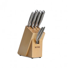 Набор кухонных ножей Xiaomi 5в1+деревянная подставка