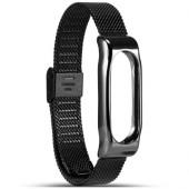 Металлический ремешок для фитнес браслета Xiaomi Mi Band 2 (Черный)