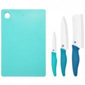 Комплект ножей + доска Xiaomi Ceramic Knife Cutting Board Set